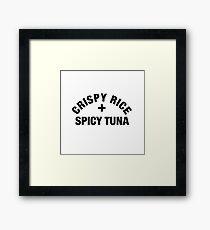 crispy rice and spicy tuna Framed Print