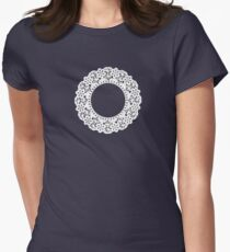 Doily Womens Fitted T-Shirt