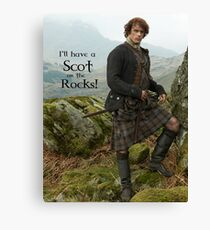I'll have a Scot on the Rocks!  Canvas Print