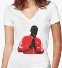 big mike skengman Women's Fitted V-Neck T-Shirt