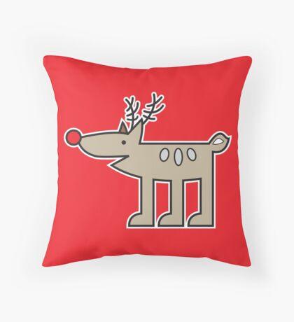 Rudolph Throw Pillow