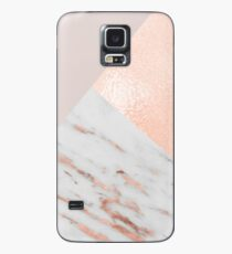 Blush pink layers of rose gold and marble Case/Skin for Samsung Galaxy