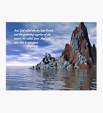 Genesis 1:10 Photographic Print