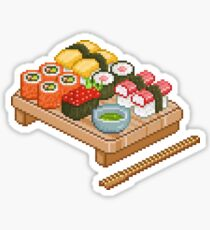 Pixel Sushi Sticker