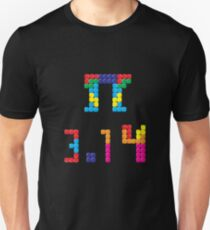 Pi Block Puzzle Video Game Math Pi Day T-Shirt Unisex T-Shirt