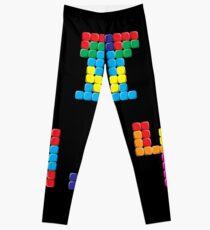 Pi Block Puzzle Video Game Math Pi Day T-Shirt Leggings