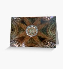 The Octagonal Lantern with Windows, Ely Cathedral Greeting Card