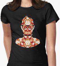 FLORAL NERD ON AN ARTSHIRT Women's Fitted T-Shirt
