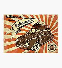 Volkswagen In Business since 1937 Photographic Print