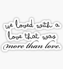 Edgar Allan Poe Quote Sticker