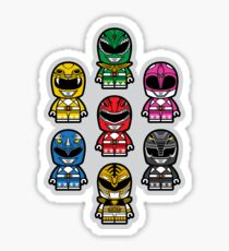 Power Chibi Rangers - Mighty Morphin Pattern Sticker