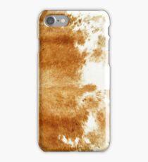 Golden Brown Cow Hide iPhone Case/Skin