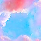 Background with dreamy clouds by Babarobot