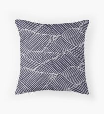 Japanese Pattern Wave Throw Pillow