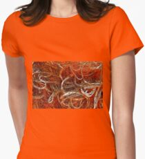 Fishing net Womens Fitted T-Shirt