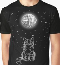 The Cat & The Moon Graphic T-Shirt