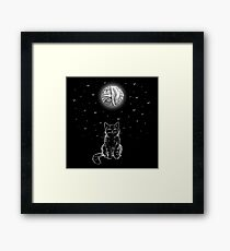 The Cat & The Moon Framed Print
