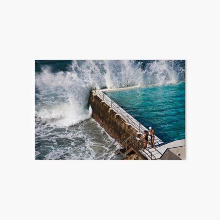 Bondi Beach Splash Art Board Print