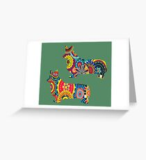 ARTSHIRT FOR PSYCHEDELIC CORGIS Greeting Card