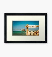 italian seaside Framed Print