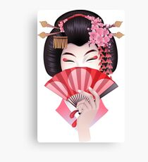 Cute asian girl Canvas Print