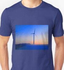 Alternative energy wind mills in the snow Unisex T-Shirt