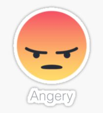 Facebook Angry/Angery React Store. Be Angery. Sticker