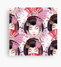 Cute asian girls Canvas Print