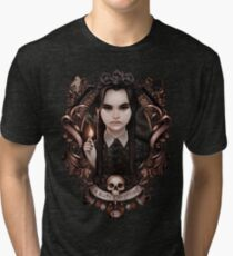 Wednesday Addams, I Hate Everything Tri-blend T-Shirt