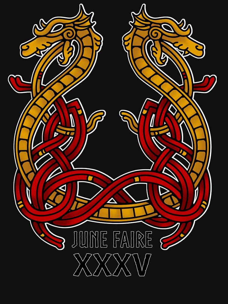Kitsap medieval Faire anudado dragón de JuneFaire