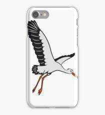storch fliegen vogel  iPhone Case/Skin