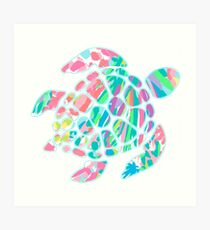 Lilly Pulitzer Sea Turtle- #3 Art Print