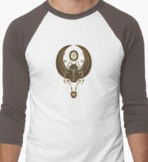 Stone Winged Egyptian Scarab Beetle with Ankh  Men's Baseball ¾ T-Shirt