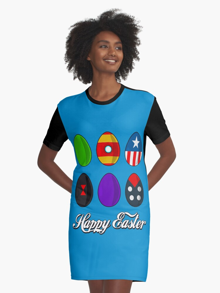 Super Easter Graphic T-Shirt Dress Front
