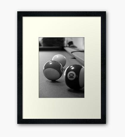 3 balls Framed Print