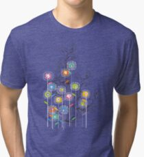My Groovy Flower Garden Grows Tri-blend T-Shirt