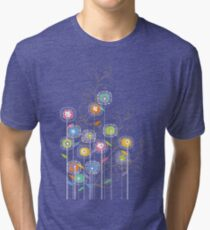 My Groovy Flower Garden Grows II Tri-blend T-Shirt