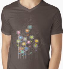 My Groovy Flower Garden Grows II Men's V-Neck T-Shirt