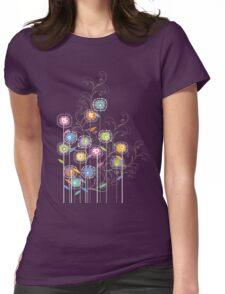 My Groovy Flower Garden Grows II Womens Fitted T-Shirt