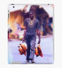 Carrying Chickens to Dakar iPad Case/Skin