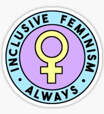 Inclusive Feminism Always • riotcakes • Pastel Round Design Sticker