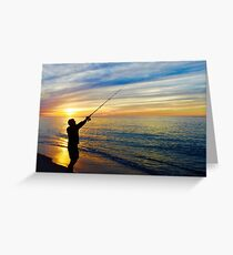 Sunset Fishing, Race Point Beach Greeting Card