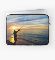 Sunset Fishing, Race Point Beach Laptop Sleeve