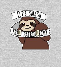 "Feminist Sloth ""Smash the Patriarchy"" Kids Pullover Hoodie"