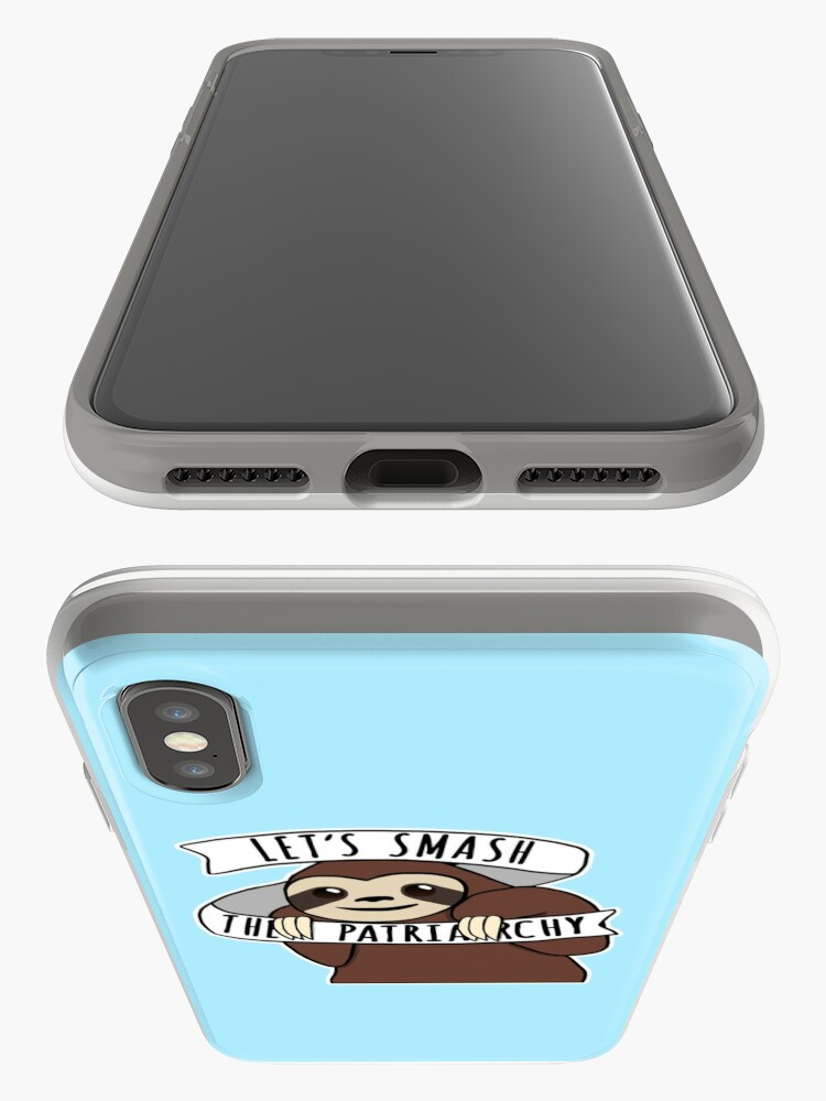 """Alternate view of Feminist Sloth """"Smash the Patriarchy"""" iPhone Case & Cover"""