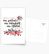 Writer's Mantra: One Sentence at a Time Postcards