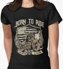 BORN TO RIDE Goodies Women's Fitted T-Shirt