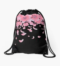 Graphic sakura flowers Drawstring Bag