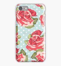 Pink & Blue Rose Pattern iPhone Case/Skin