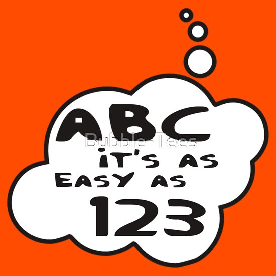 abc it 39 s as easy as 123 by bubble t shirts hoodies by bubble tees redbubble. Black Bedroom Furniture Sets. Home Design Ideas